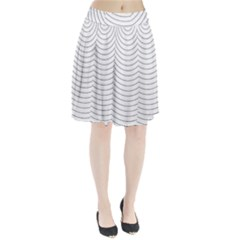Wave Black White Line Pleated Skirt