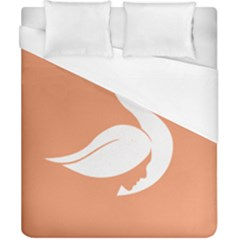 Swan Girl Face Hair Face Orange White Duvet Cover (california King Size) by Alisyart