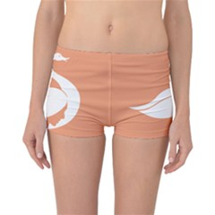 Swan Girl Face Hair Face Orange White Reversible Bikini Bottoms
