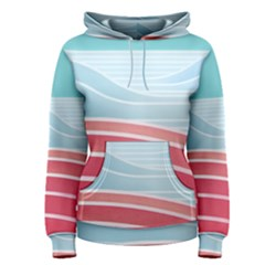 Wave Waves Blue Red Women s Pullover Hoodie