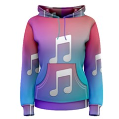Tunes Sign Orange Purple Blue White Music Notes Women s Pullover Hoodie