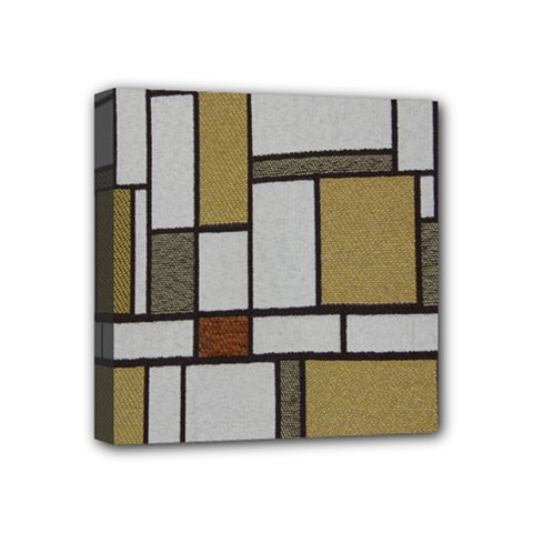 Fabric Textures Fabric Texture Vintage Blocks Rectangle Pattern Mini Canvas 4  X 4