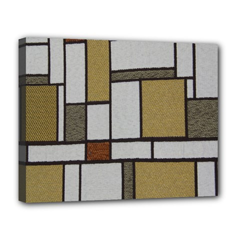 Fabric Textures Fabric Texture Vintage Blocks Rectangle Pattern Canvas 14  X 11