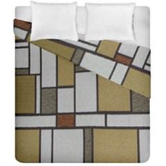 Fabric Textures Fabric Texture Vintage Blocks Rectangle Pattern Duvet Cover Double Side (california King Size)