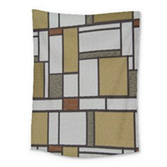 Fabric Textures Fabric Texture Vintage Blocks Rectangle Pattern Medium Tapestry by Simbadda