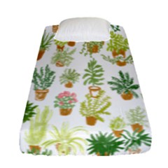 Flowers Pattern Fitted Sheet (single Size) by Simbadda