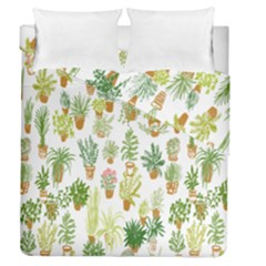 Flowers Pattern Duvet Cover Double Side (queen Size) by Simbadda