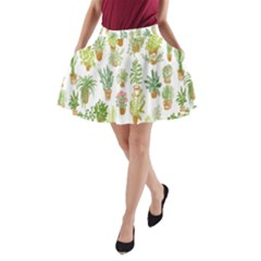 Flowers Pattern A Line Pocket Skirt by Simbadda