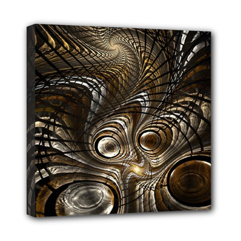 Fractal Art Texture Neuron Chaos Fracture Broken Synapse Mini Canvas 8  X 8  by Simbadda