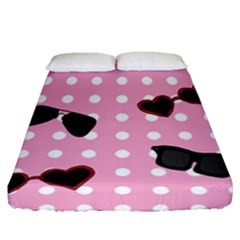 Pisunglass Tech Pink Pattern Fitted Sheet (queen Size)