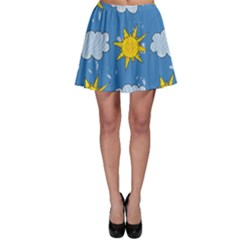 Sunshine Tech Blue Skater Skirt by Simbadda