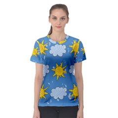 Sunshine Tech Blue Women s Sport Mesh Tee by Simbadda