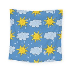 Sunshine Tech Blue Square Tapestry (small) by Simbadda