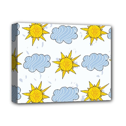 Sunshine Tech White Deluxe Canvas 14  X 11  by Simbadda
