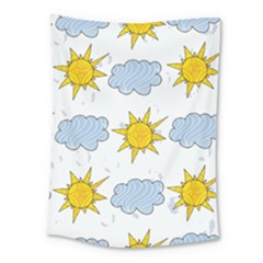 Sunshine Tech White Medium Tapestry