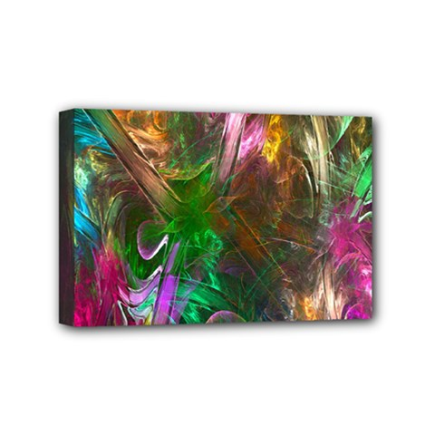 Fractal Texture Abstract Messy Light Color Swirl Bright Mini Canvas 6  X 4  by Simbadda