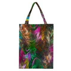 Fractal Texture Abstract Messy Light Color Swirl Bright Classic Tote Bag by Simbadda