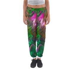 Fractal Texture Abstract Messy Light Color Swirl Bright Women s Jogger Sweatpants