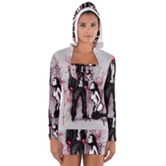 Say Please Women s Long Sleeve Hooded T Shirt by lvbart