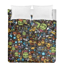 Many Funny Animals Duvet Cover Double Side (full/ Double Size) by Simbadda