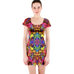Newcastle  Short Sleeve Bodycon Dress by AlmightyPsyche