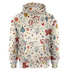 Spring Floral Pattern With Butterflies Men s Pullover Hoodie by TastefulDesigns