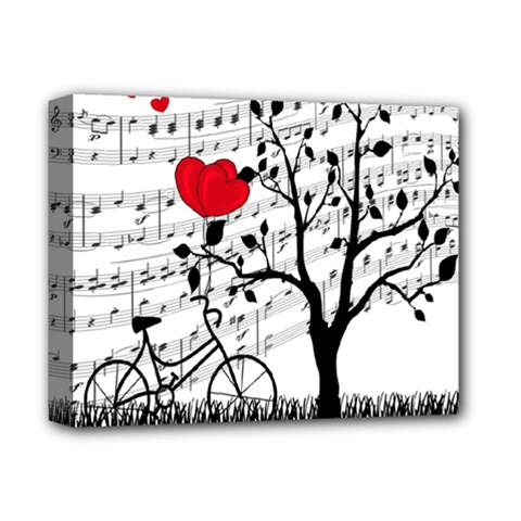 Love Song Deluxe Canvas 14  X 11  by Valentinaart