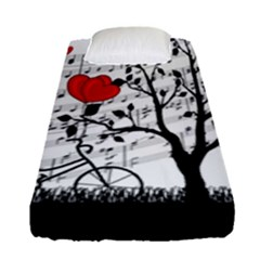 Love Song Fitted Sheet (single Size) by Valentinaart