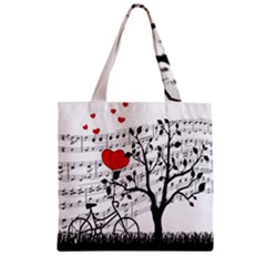 Love Song Zipper Grocery Tote Bag by Valentinaart