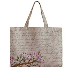 Cherry Blossom Zipper Mini Tote Bag by Valentinaart