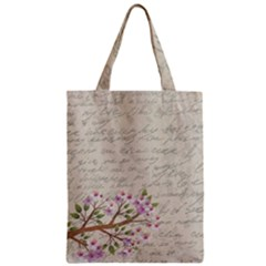 Cherry Blossom Zipper Classic Tote Bag by Valentinaart