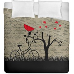 Love Letter Duvet Cover Double Side (king Size) by Valentinaart