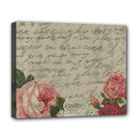 Vintage Roses Deluxe Canvas 20  X 16   by Valentinaart