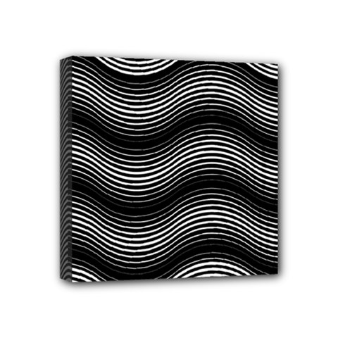 Two Layers Consisting Of Curves With Identical Inclination Patterns Mini Canvas 4  X 4  by Simbadda
