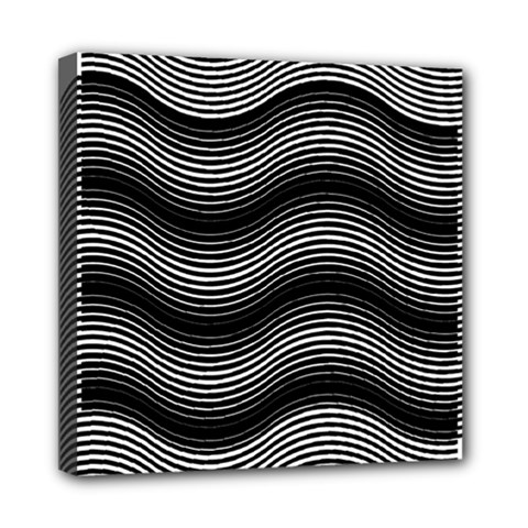 Two Layers Consisting Of Curves With Identical Inclination Patterns Mini Canvas 8  X 8  by Simbadda