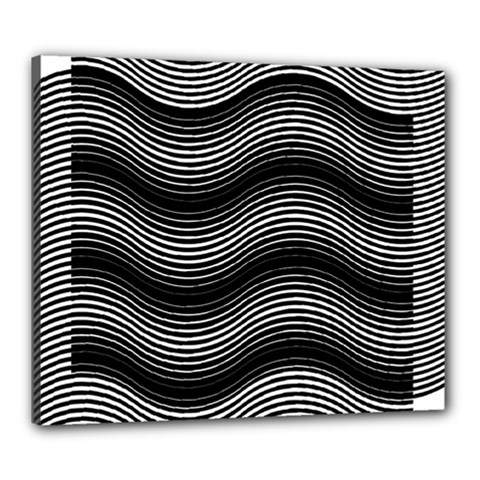 Two Layers Consisting Of Curves With Identical Inclination Patterns Canvas 24  X 20  by Simbadda