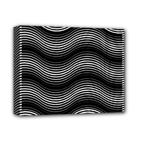 Two Layers Consisting Of Curves With Identical Inclination Patterns Deluxe Canvas 14  X 11