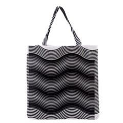 Two Layers Consisting Of Curves With Identical Inclination Patterns Grocery Tote Bag by Simbadda