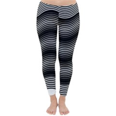 Two Layers Consisting Of Curves With Identical Inclination Patterns Classic Winter Leggings