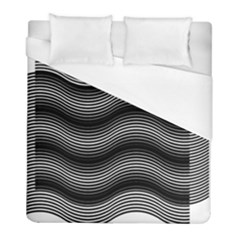 Two Layers Consisting Of Curves With Identical Inclination Patterns Duvet Cover (full/ Double Size)