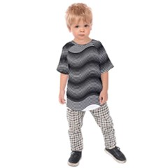 Two Layers Consisting Of Curves With Identical Inclination Patterns Kids  Raglan Tee