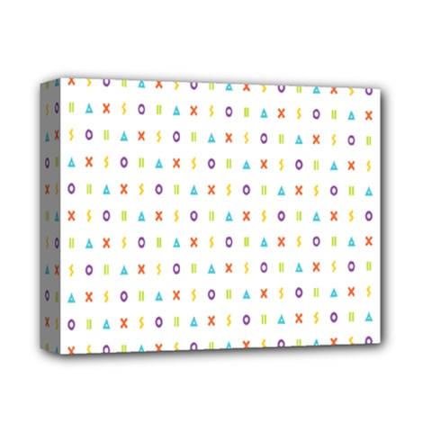 Sign Pattern Deluxe Canvas 14  X 11  by Simbadda