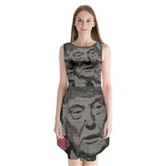 Trump Sleeveless Chiffon Dress   by Valentinaart