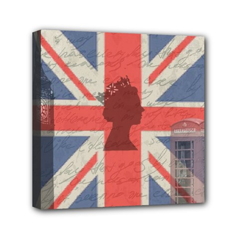 Vintage London Mini Canvas 6  X 6  by Valentinaart