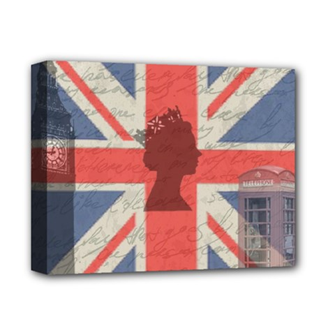 Vintage London Deluxe Canvas 14  X 11  by Valentinaart