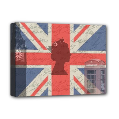Vintage London Deluxe Canvas 16  X 12   by Valentinaart