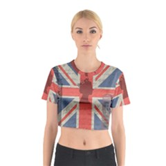 Vintage London Cotton Crop Top by Valentinaart
