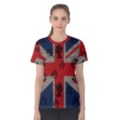 United Kingdom  Women s Cotton Tee by Valentinaart