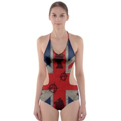 United Kingdom  Cut Out One Piece Swimsuit by Valentinaart