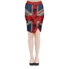 United Kingdom  Midi Wrap Pencil Skirt by Valentinaart